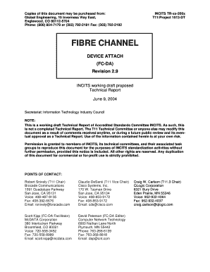 Fibre Channel Device Attach - T11 - t11