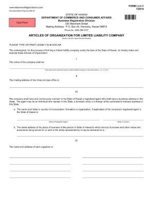 Llc 1 Form - Fill Online, Printable, Fillable, Blank | PDFfiller