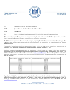 TO: Human Resources and Payroll ... - Delaware State Treasury - treasury delaware