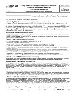 2006-2017 Form IRS 5305A-SEP Fill Online, Printable, Fillable ...