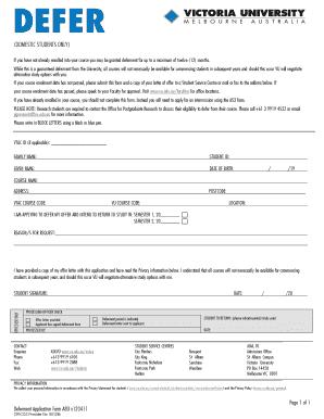 victoria university melbourne international application form pdf