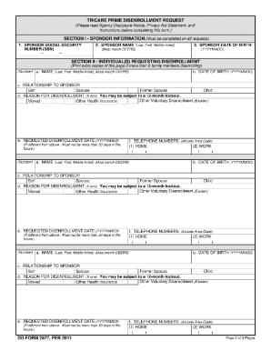 240490-disenrollment-form Ohio Medicaid Application Form on iowa dhs, printablefor iowa children,