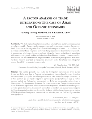 A FACTOR ANALYSIS OF TRADE INTEGRATION: THE ... - CEPII