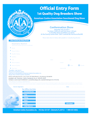 harrisonville mo aca dog show fill online printable fillable