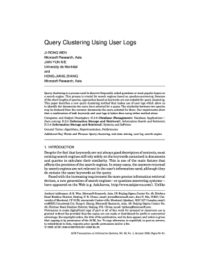 query clustering using user logs pdf form