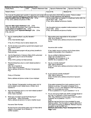 Medicare Secondary Payer Development Form - Fill Online, Printable ...