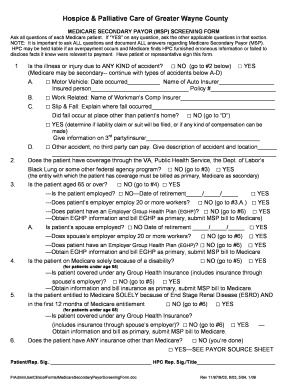 Medicare Secondary Payer Screening Form - Fill Online, Printable ...