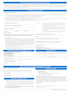 Citibank Online Sign In >> Funds Transfer Request Citibank - Fill Online, Printable ...