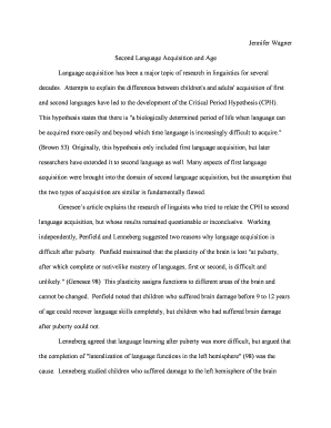 research paper outlines mla