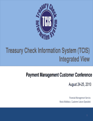 treasury check information system