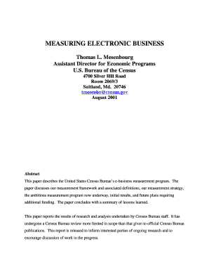 measuring electronic business thomas l mesenbourg form