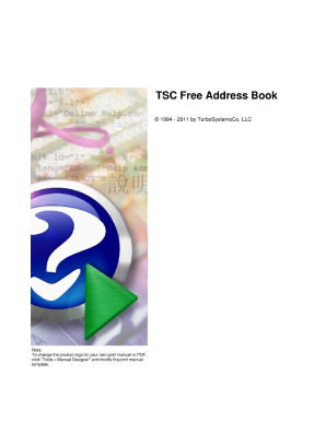 address book template