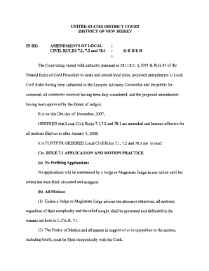 district court of new jersey form 71