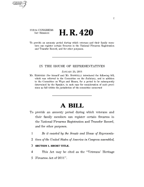 H. R. 420 - nfaoa
