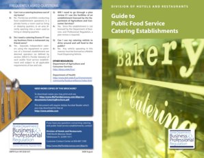 Guide to public food service Catering ... - MyFloridaLicense .com