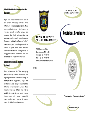 Accident Brochure - Police - Town Of DeWitt