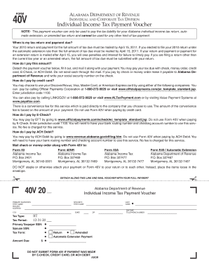 form 40v alabama