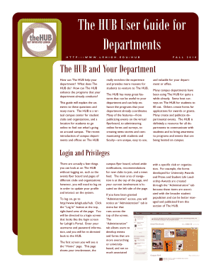 Department HUB User Guide - Lehigh University - lehigh