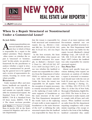 REAL ESTATE LAW REpORTER