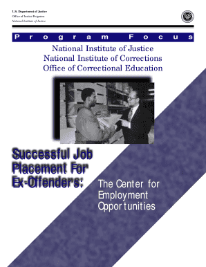 successful job placement for ex offenders the center for employment opportunities form