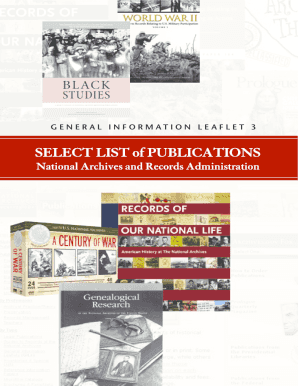 Select List of Publications - National Archives and Records ... - archives