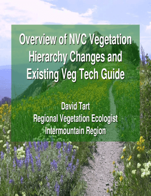 Overview of NVC Vegetation Hierarchy ... - USDA Forest Service - fs fed