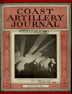 THE COAST ARTILLERY JOURNAL - Air Defense Artillery School