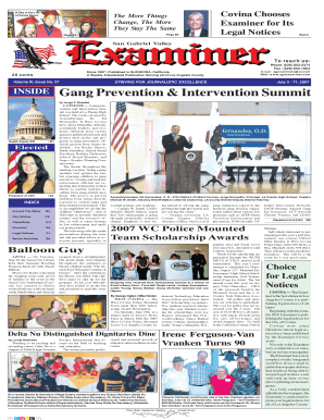 July 11, 2007 - San Gabriel Valley Examiner