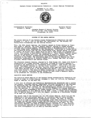 1982 - Eastern States Archeological Federation - esaf-archeology