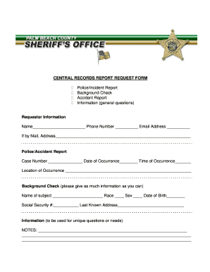 pbso incident report form - Incident Reporting Form