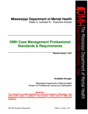 mississippi dmh case manager requirements form