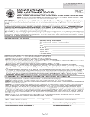 discharge application form
