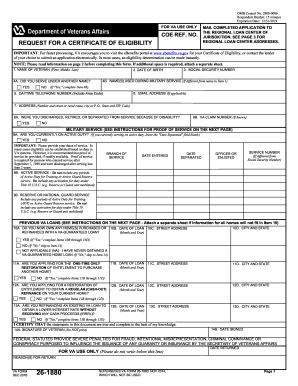 va form 26 1820 Fillable Va Form 26 1880pdffillercom - Fill Online, Printable ...