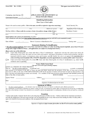 form 2301 notary