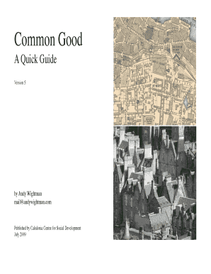common good quick guide form