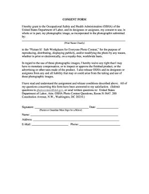 Print Release Form For Osha