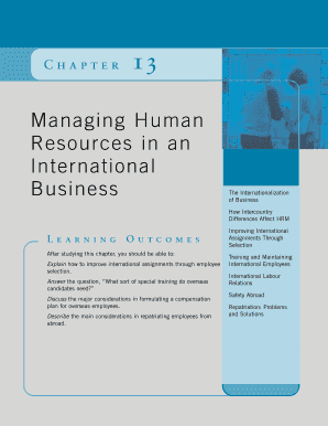 managing human resources in an international business chapter 13 form