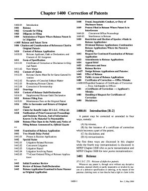 MPEP E8R2 - Chapter 1400 Correction of Patents - uspto