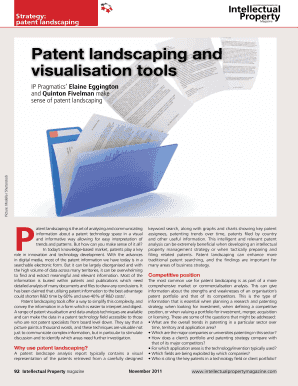 Patent landscaping and visualisation tools - IP Pragmatics