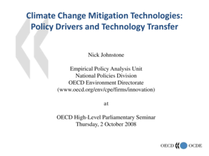 Climate Change Mitigation Technologies - OECD - oecd
