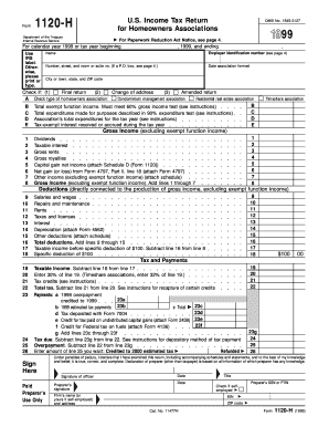 Fillable Form 1120 H - Fill Online, Printable, Fillable, Blank ...