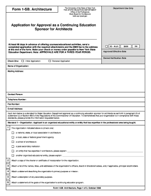 Form 1-SB ARCH - Office of the Professions - New York State ... - op nysed