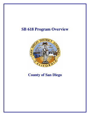 SB 618 Program Overview - sdcda