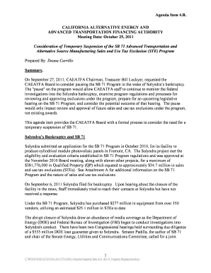 Staff Report - Agenda Item 4 .B. - California State Treasurer's Office - treasurer ca