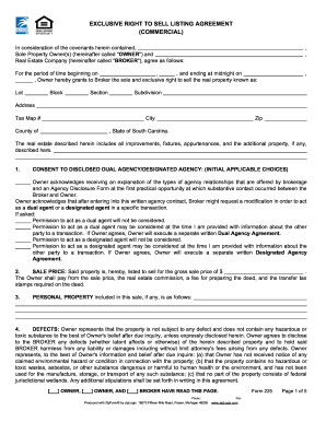 nevada exclusive right to sell listing form