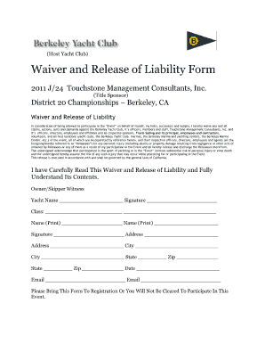Printable Liability Waiver Form