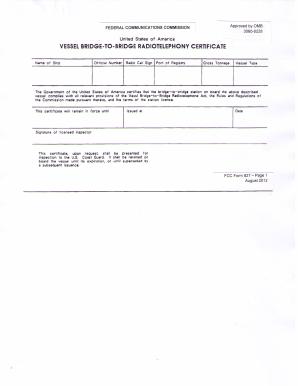Fcc Form 827 - Fill Online, Printable, Fillable, Blank   PDFfiller
