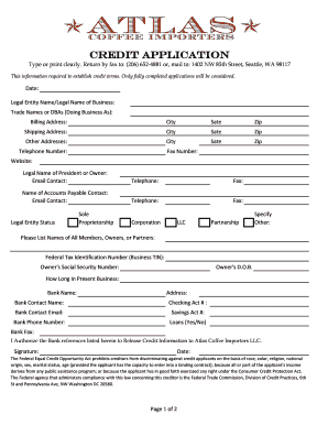 credit appliaction form