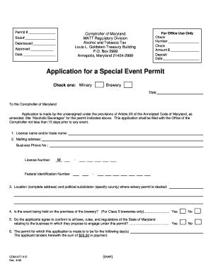 Application for a Special Event Permit - Chestertown Tea Party Festival - chestertownteaparty