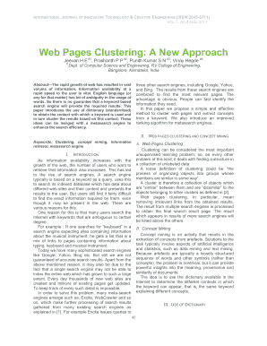 Web Pages Clustering: A New Approach - ijitce co